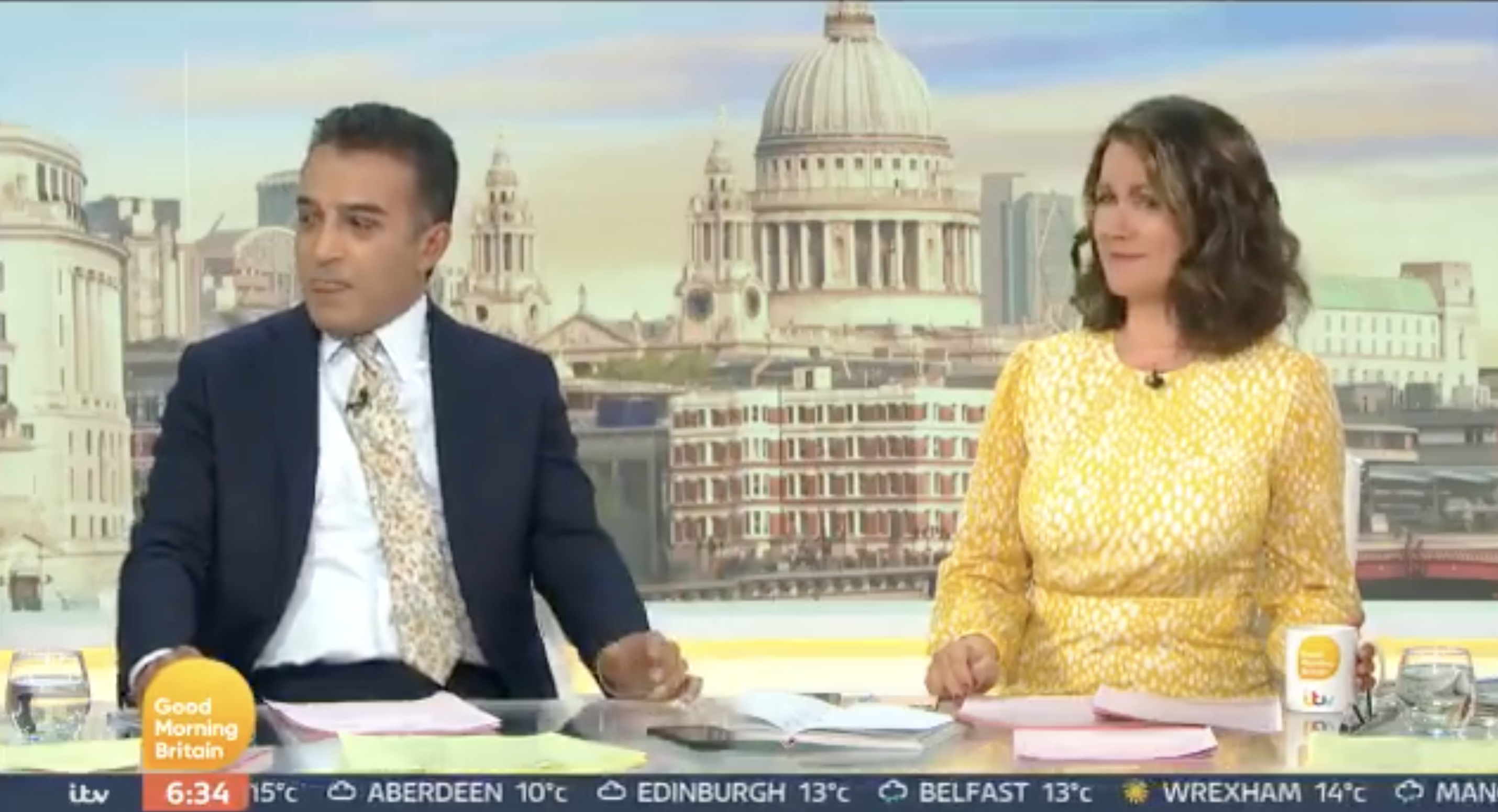 No Hugs for Susanna from Co-Host Adil Ray on GMB